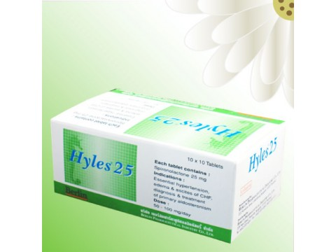 Hyles 25 mg Spironolactone 10 tablets