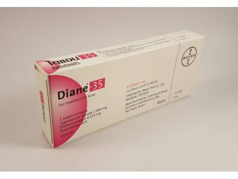 Diane 35 (Cyproterone acetate, Ethinyl estradiol) – 21 tablets