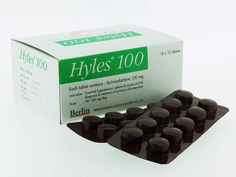 Hyles 100 mg Spironolactone 10 tablets