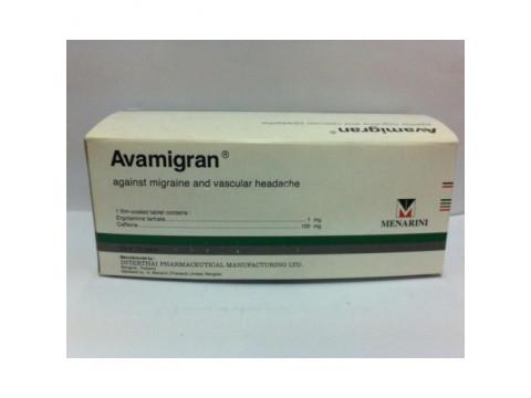 Avamigran (Ergotamine tartrate, caffeine) – 10 tablets
